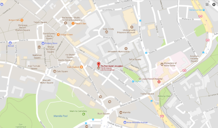 The Post Hostel map