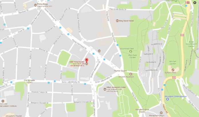 Hotel Prima Royale map