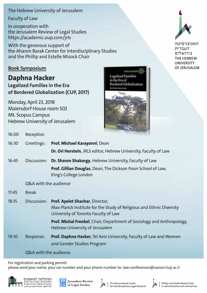 An event in honor of Prof. Dafna Hacker's book