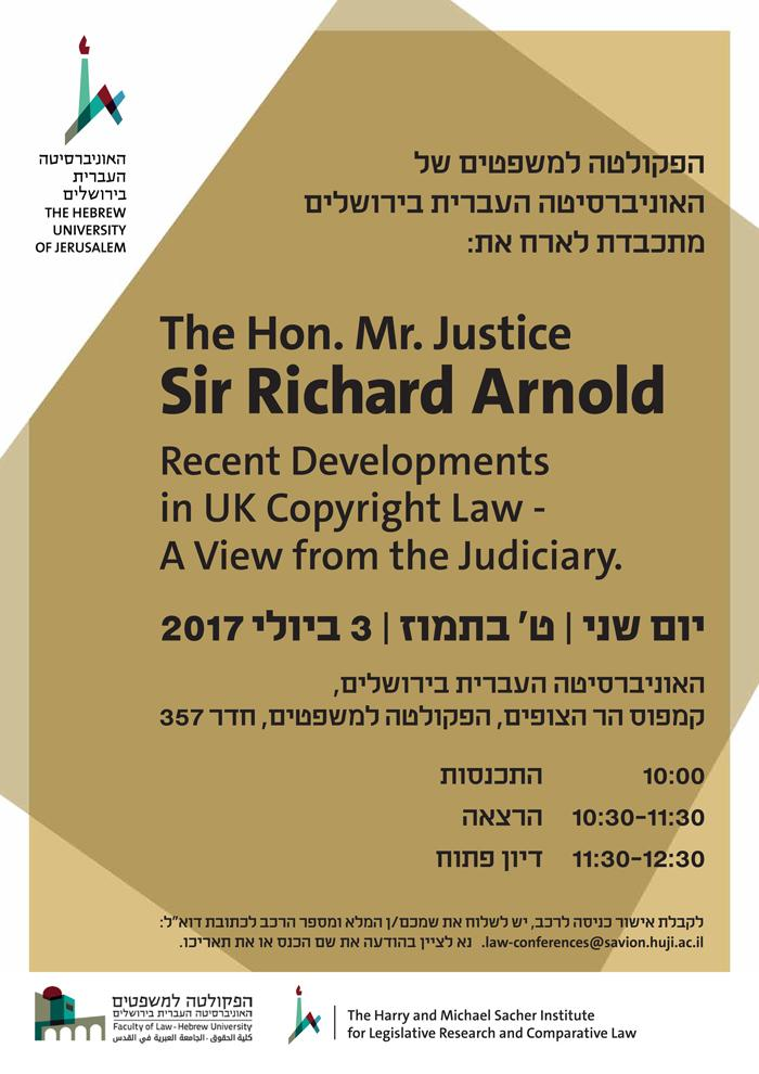 The Hon. Mr. Justice Sir Richard Arnold