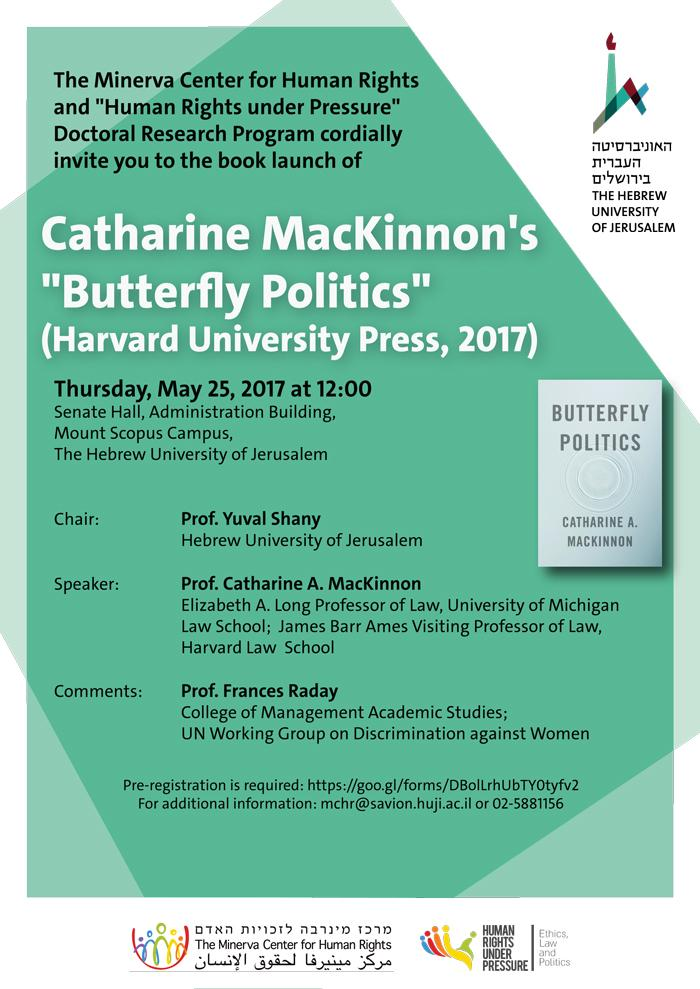Catharine Mackinnon Book Launch