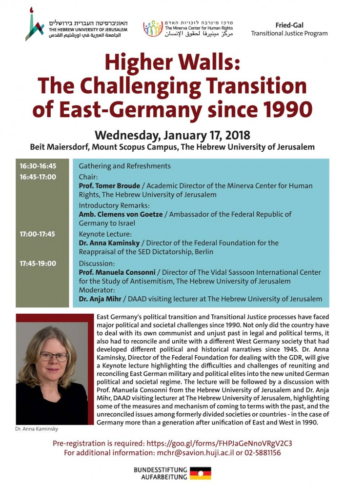 Symposium - The Transition of East Germany since the 1990 Reunification
