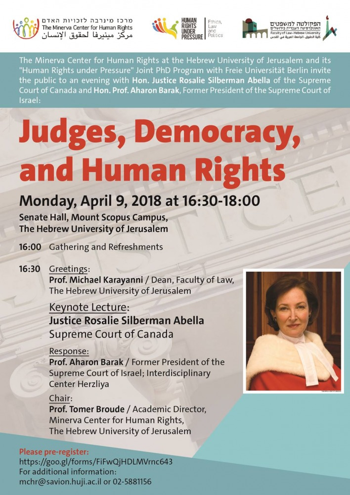 Judges, Democracy and Human Rights
