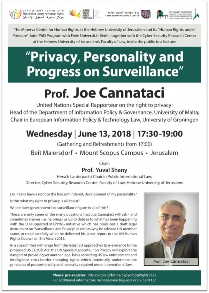 Privacy, Personality and Progress on Surveillance
