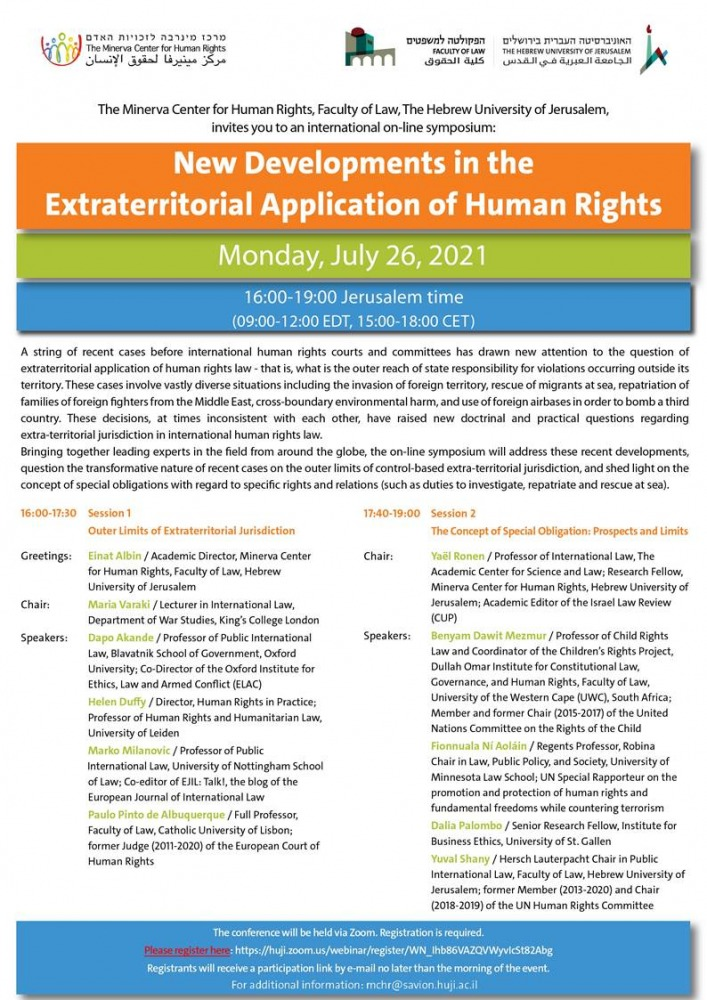 New Developments in the Extraterritorial Application of Human Rights