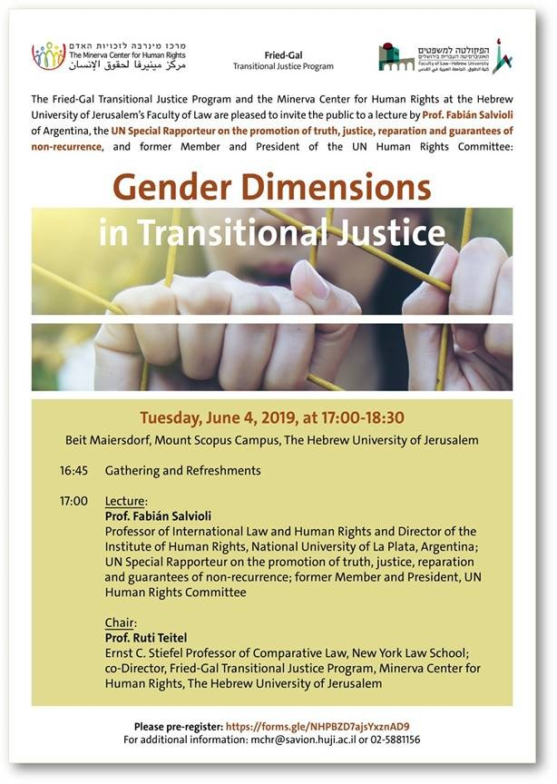 Gender Dimensions in Transitional Justice