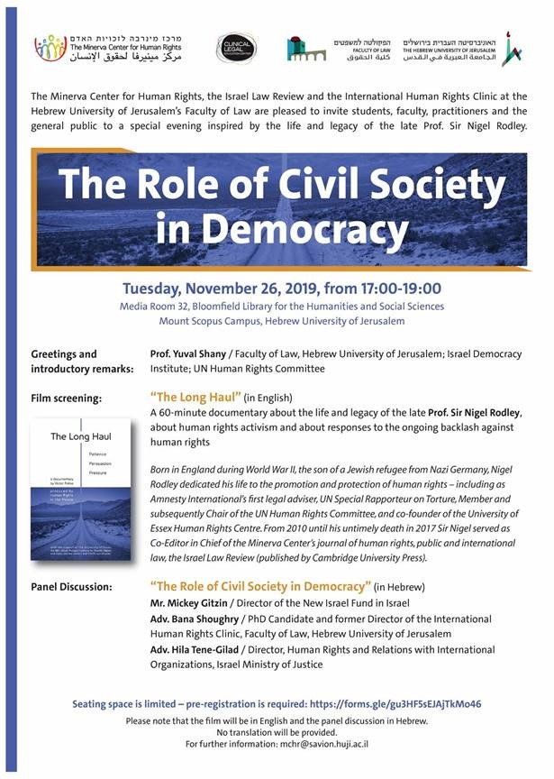 The Role of Civil Society in Democracy