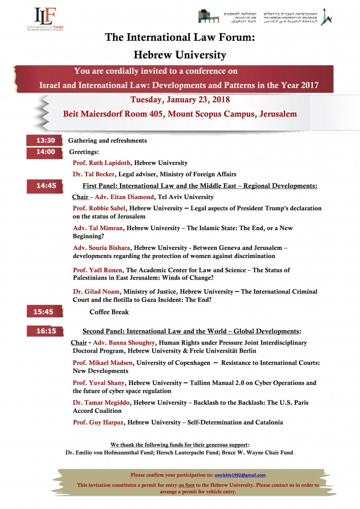 Year in review of International Law Forum