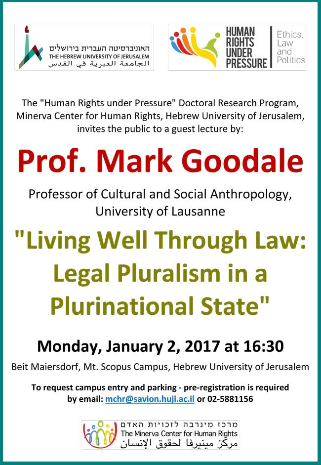 lecture by Prof. Mark Goodale