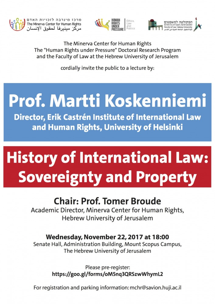 History of International Law: Sovereignty and Property