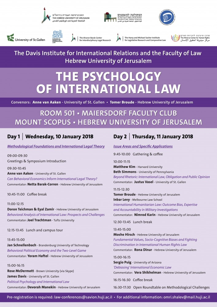 The Psychology of International Law
