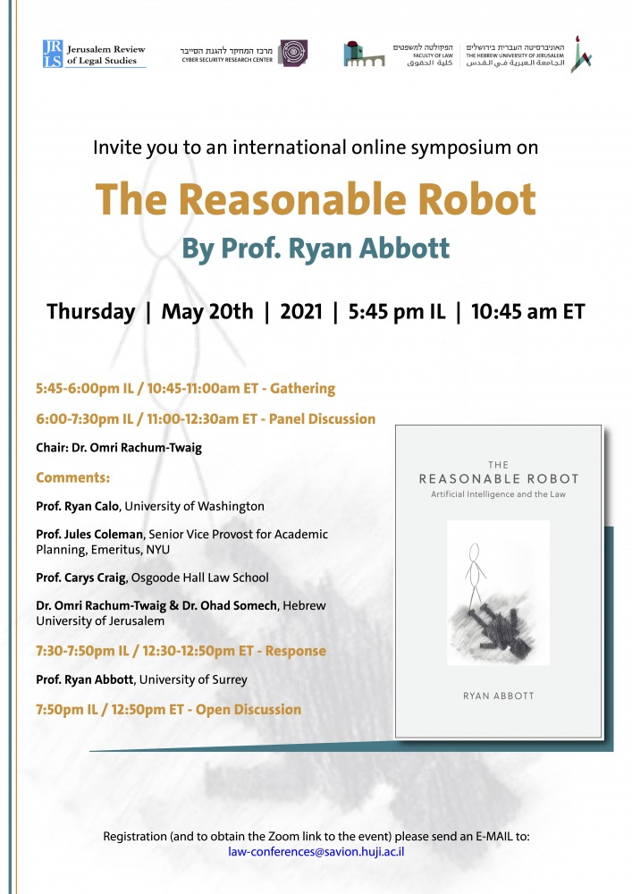 international online symposium on The Reasonable Robot