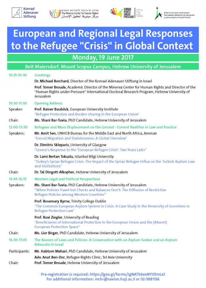 conference on the European refugee crisis in global context