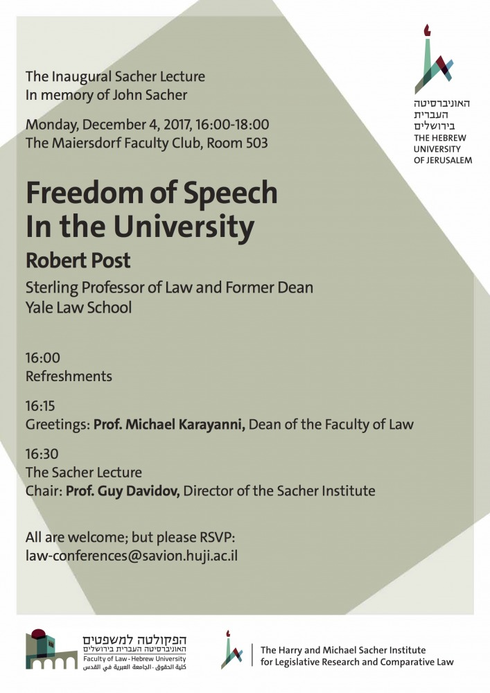 Freedom of Speech In the University