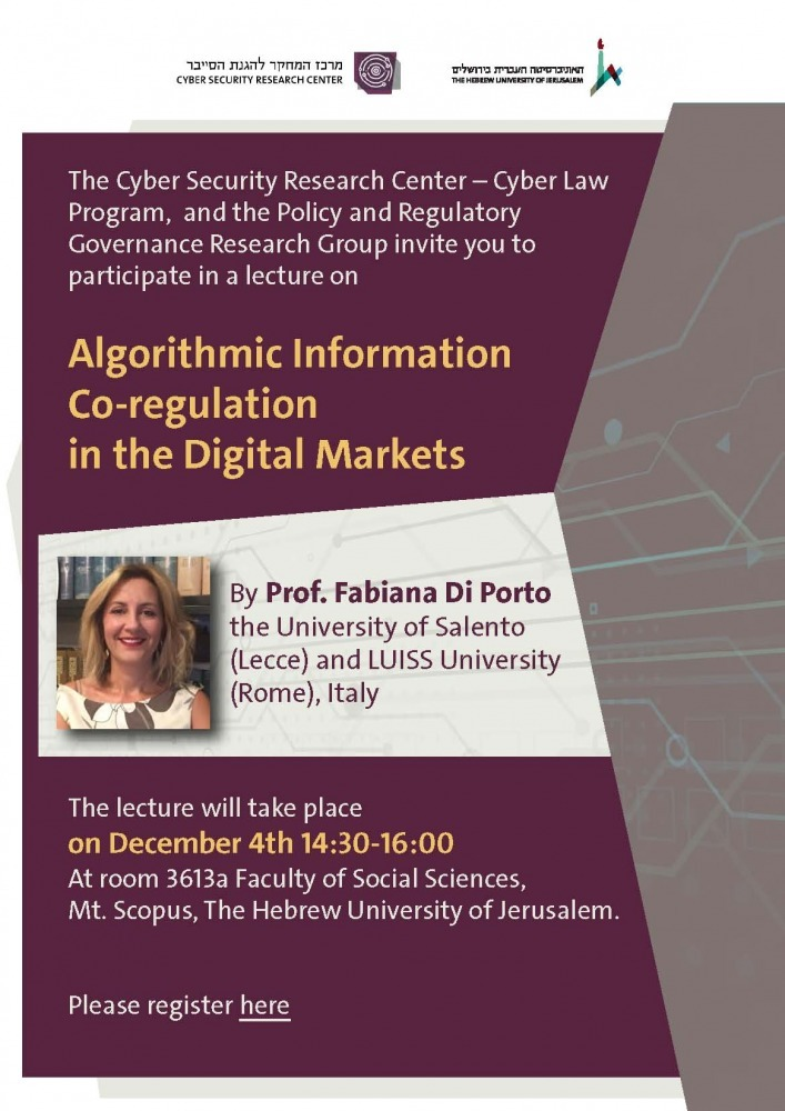 Algorithmic Information Co-regulation in the Digital Markets