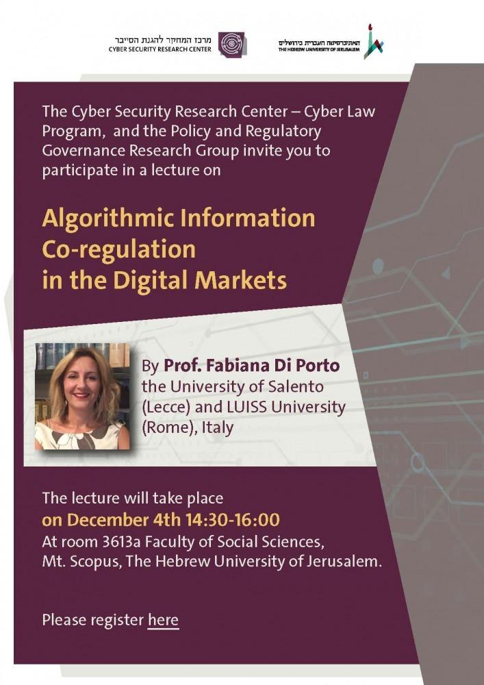 Algorithmic Information Co-regulation in the Digital Markets
