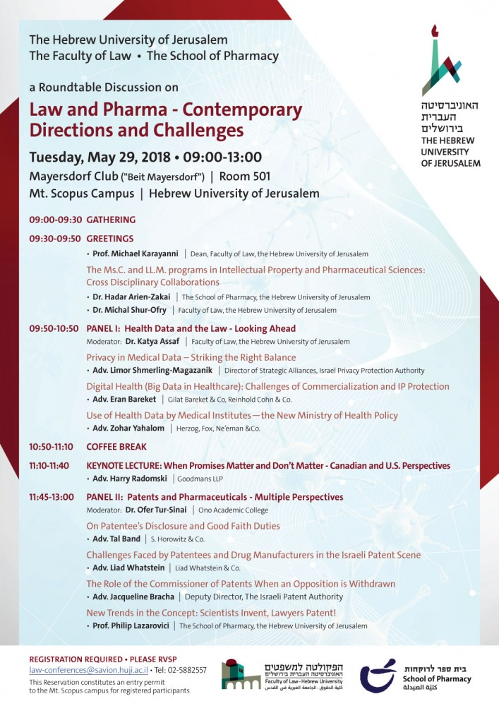 Law and Pharma - Contemporary Directions and Challenges